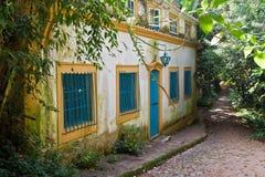 Casa colonial típica Tiradentes Brasil Fotografia de Stock Royalty Free