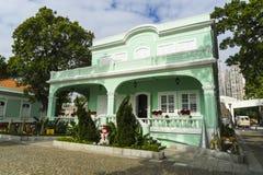Casa coloniale conservata, Macau, Taipa Fotografia Stock