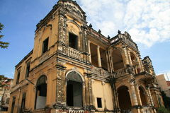Casa coloniale a Phnom Penh Immagini Stock Libere da Diritti