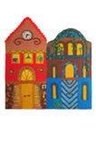 Casa colorata Plasticine Fotografie Stock