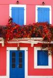 Casa colorata tipica Fotografia Stock