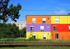 Casa colorida Alemania Foto de archivo libre de regalías