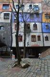 Casa colorida de Hundertwasser, Viena Áustria Fotos de Stock Royalty Free