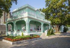 Casa colorida del estilo portugués en el taipa Macao Imagen de archivo