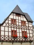 Casa colorida del fachwerk Foto de archivo libre de regalías