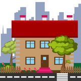 Casa colorida detallada Imagen de archivo libre de regalías