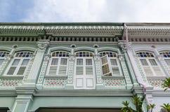 Casa colorida do ` de Peranakan do ` em Singapura imagens de stock royalty free