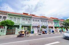 Casa colorida do ` de Peranakan do ` em Singapura foto de stock