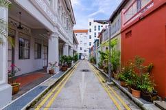 Casa colorida do ` de Peranakan do ` em Singapura imagens de stock