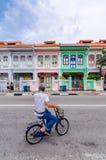 Casa colorida do ` de Peranakan do ` em Singapura imagem de stock royalty free