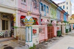 Casa colorida do ` de Peranakan do ` em Singapura fotos de stock royalty free