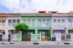 Casa colorida do ` de Peranakan do ` em Singapura imagem de stock