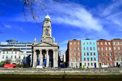 Casa colorida em Dublin, Irlanda foto de stock