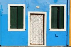 Casa colorida en Burano Imagen de archivo