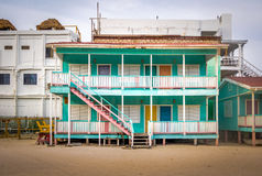 Casa colorida en el calafate de Caye - Belice foto de archivo libre de regalías