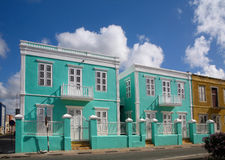 Casa colorida nas Caraíbas imagem de stock