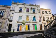Casa colorida vieja en Ponta Delgada Imagen de archivo