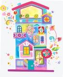 Casa colorida y de la diversión de apartamentos libre illustration