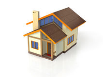 Casa com arquitetura ecológica - vista direita Fotos de Stock