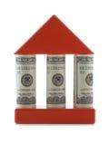 Casa com colunas Imagens de Stock