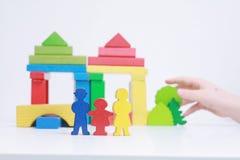 Casa com família Imagens de Stock