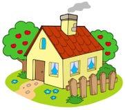 Casa com jardim Foto de Stock Royalty Free