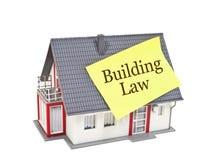 Casa com lei de construção foto de stock
