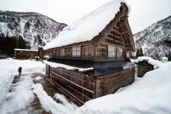Casa com neve em japão imagem de stock royalty free