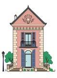Casa com obturadores azuis Fotografia de Stock