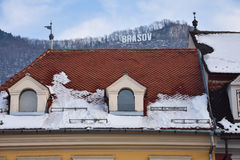 Casa com telhado telhado Imagem de Stock
