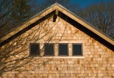 Casa com telhas de madeira Imagem de Stock Royalty Free