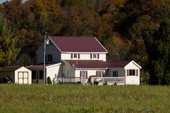 Casa com um telhado roxo Fotos de Stock