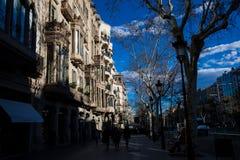 Casa Comalat in Barcelona Spanien stockfotos