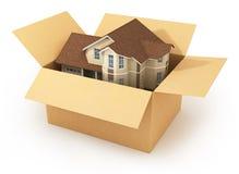Casa commovente Mercato immobiliare Immagine tridimensionale Fotografia Stock