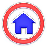 Casa como um logotipo Fotografia de Stock Royalty Free