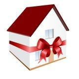 Casa como um presente (incl do vetor) Fotos de Stock Royalty Free