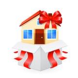 Casa como um presente Vetor 10 eps Foto de Stock Royalty Free
