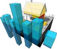 Casa con el diagrama adicional del aislamiento y del negocio libre illustration