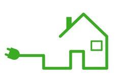 Casa con el enchufe ilustración del vector