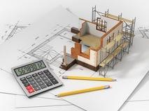 Casa con el interior abierto encima de modelos libre illustration