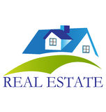 Casa con el logotipo de la colina  Foto de archivo libre de regalías