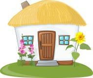 Casa con el tejado cubierto con paja Imagen de archivo