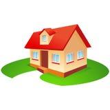 Casa con il giardino Fotografie Stock