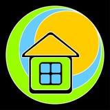 Casa con la azotea amarilla. Imagenes de archivo