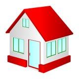 Casa con la azotea roja. Imágenes de archivo libres de regalías