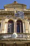 Casa con la bandera de Uruguay Foto de archivo libre de regalías