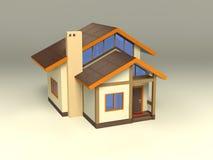 Casa con la configuración ecológica ilustración del vector