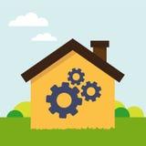 Casa con la herramienta Fotografía de archivo libre de regalías