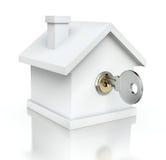 Casa con la llave Imágenes de archivo libres de regalías