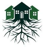 Casa con la raíz libre illustration